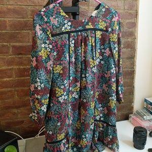LOFT Petite XXSP Multi-Colored Floral Dress